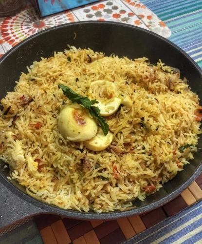 Home Made Hyderabadi Egg Biryani